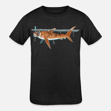Tiger Shark tiger shark - Kids' Tri-Blend T-Shirt