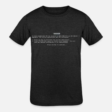 Death BSOD - Blue Screen Of Death - Kids' Tri-Blend T-Shirt