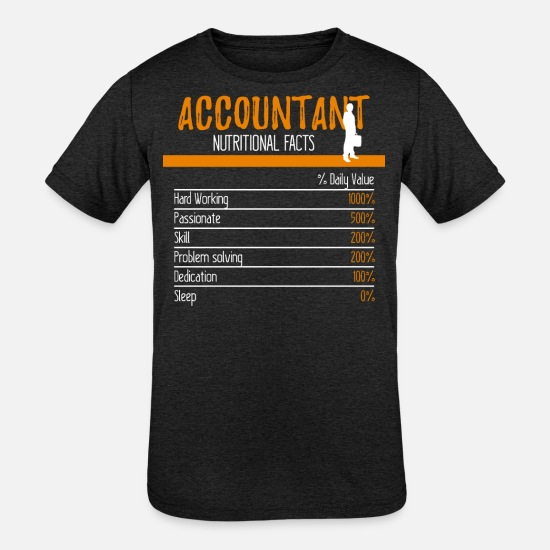 Career T-Shirts - Accountant Ingredients - Kids' Tri-Blend T-Shirt heather black