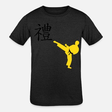 Meaning of Martial Arts: Courtesy Boys T shirt in - Kids' Tri-Blend T-Shirt