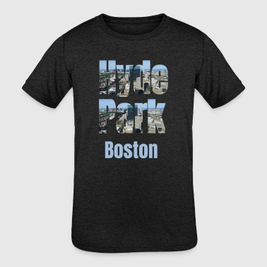 Usa Tourist Hyde Park Boston, USA Country, City Neigborhood Tourist Gifts - Kid's Tri-Blend T-Shirt
