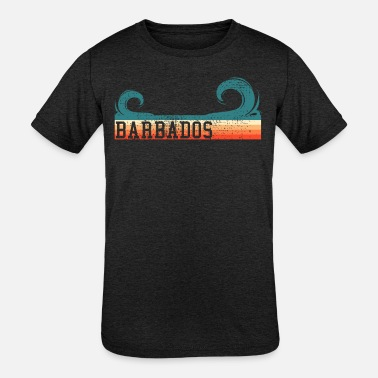 Commonwealth Barbados retro waves - Kids' Tri-Blend T-Shirt
