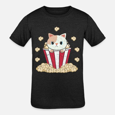Popcorn Popcorn Cat - Kids' Tri-Blend T-Shirt