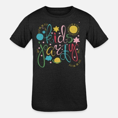 Solar System Kids Cool funny words with solar system - Kids' Tri-Blend T-Shirt
