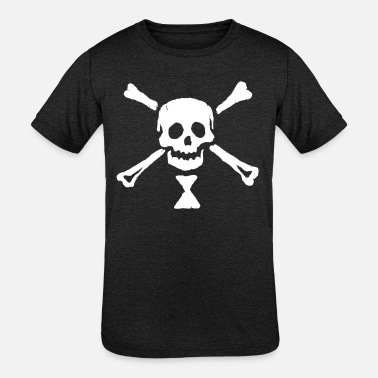 Society of Pirates - Emmanuel Wynne Jolly Roger - Kids' Tri-Blend T-Shirt