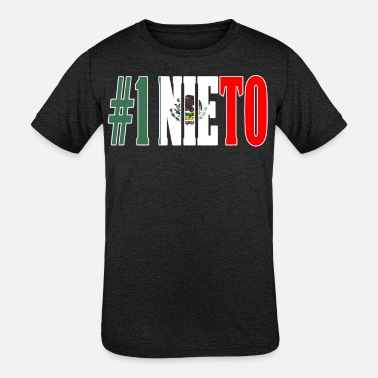 Nieto Nieto Gift Mexican Design For Mexican Flag Design for Mexican Pride Outline - Kids' Tri-Blend T-Shirt