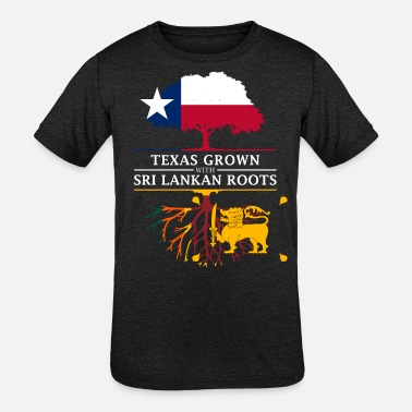 Sri Lankan Texan Grown with Sri Lankan Roots - Kids' Tri-Blend T-Shirt
