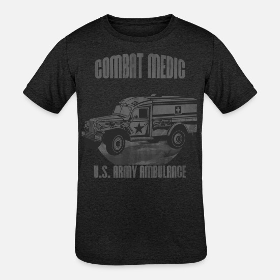 Doctor T-Shirts - US Army Ambulance - Kids' Tri-Blend T-Shirt heather black