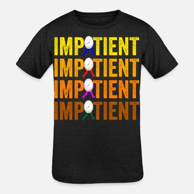Impatience Impatient Retro - Kids' Tri-Blend T-Shirt