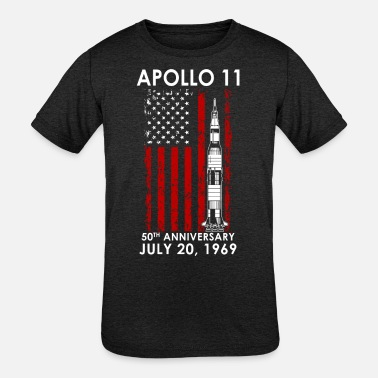 Scientology Apollo 11 USA Flag - Kids' Tri-Blend T-Shirt