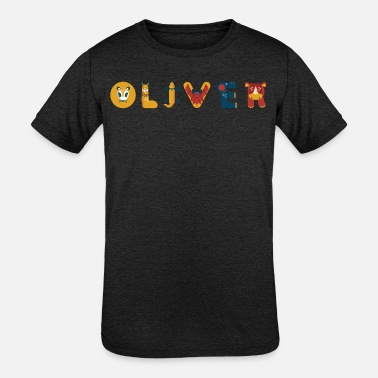 First Name Oliver First Name Last Name - Kids' Tri-Blend T-Shirt