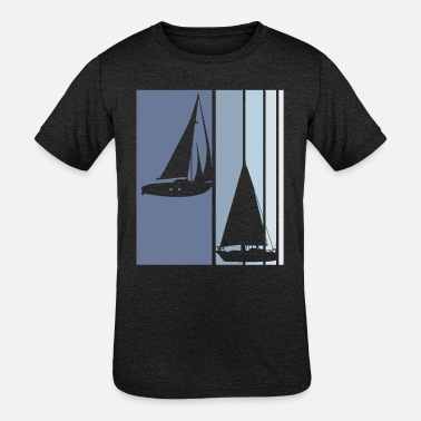 Anchor Sailboats Vintage | Sailboat Sailing Sailor Boat - Kids' Tri-Blend T-Shirt
