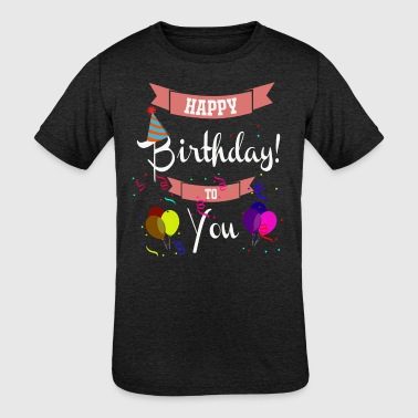 Balloon Artist birthday banners balloon gift idea - Kid's Tri-Blend T-Shirt