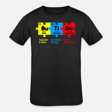 Chemical Elements Autism Chemical Element - Kids' Tri-Blend T-Shirt