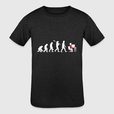 Evolution Theory of IT guys - Kid's Tri-Blend T-Shirt