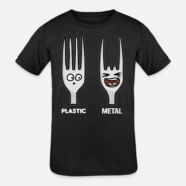 Heavy Metal PLASTIC METAL funny Heavy Metal - Kids' Tri-Blend T-Shirt