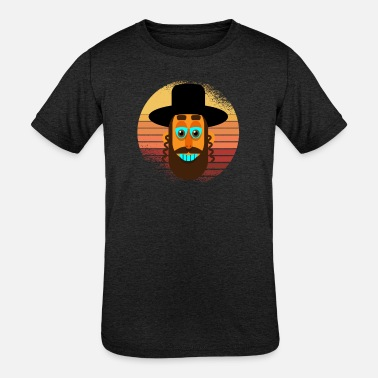 Rabbi Retro - Kids' Tri-Blend T-Shirt