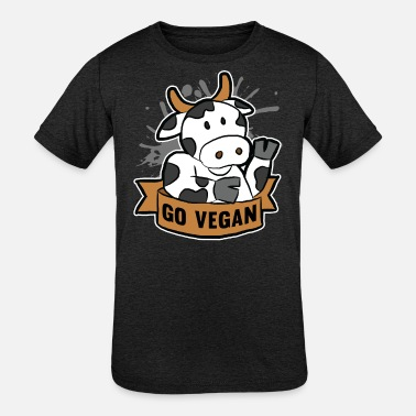 Vegan GO VEGAN - Kids' Tri-Blend T-Shirt