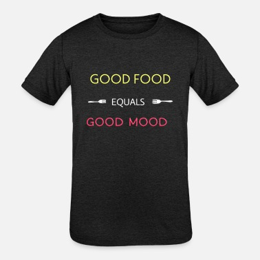 FOOD MOOD - Kids' Tri-Blend T-Shirt