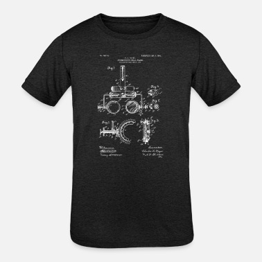 Optometrist Gift - 1904 Trail Frame Patent - Kids' Tri-Blend T-Shirt