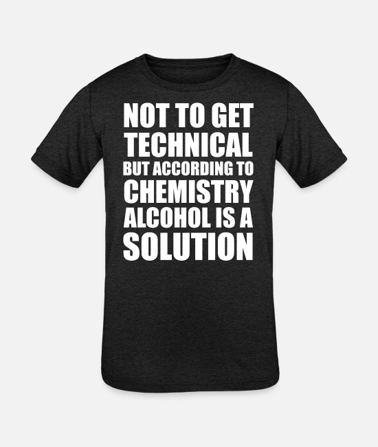 Parody T-Shirts - Alcohol is Solution - Kids' Tri-Blend T-Shirt heather black