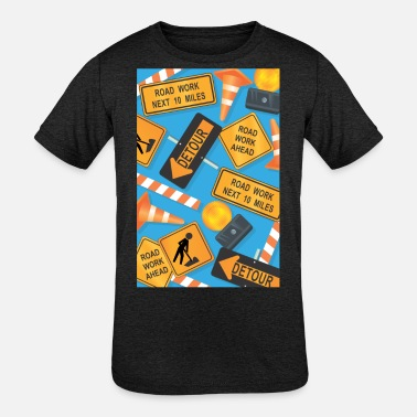 Road Sign Road Signs - Kids' Tri-Blend T-Shirt