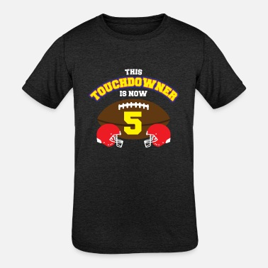 Five Football 5th Birthday American Football Jersey Five Years - Kids' Tri-Blend T-Shirt