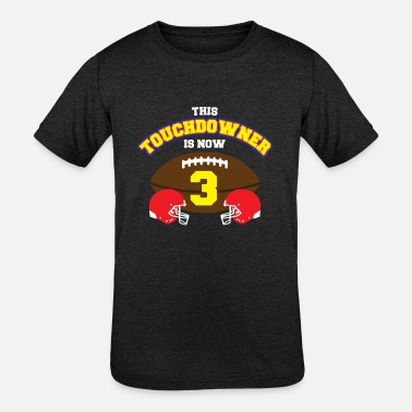 3rd Anniversary 3rd Birthday American Football Jersey Three Years - Kids' Tri-Blend T-Shirt
