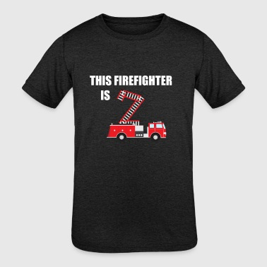 2nd Birthday Kids Kids 2nd Birthday Firetruck Firefighter Bday Gift - Kids' Tri-Blend T-Shirt