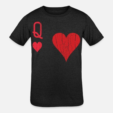 Costume Playing Card Queen Of The Heart Halloween Costume - Kids' Tri-Blend T-Shirt