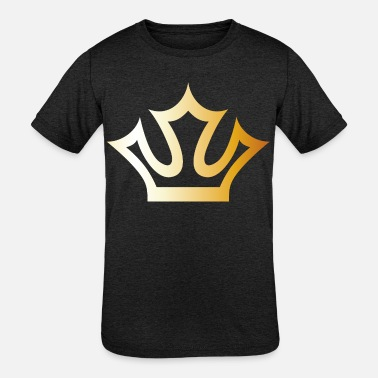 Cool King prince gold VIP crown lable vector image - Kids' Tri-Blend T-Shirt