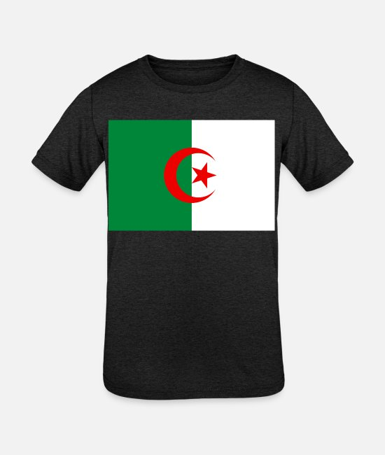 National T-Shirts - Algeria country flag love my land patriot - Kids' Tri-Blend T-Shirt heather black