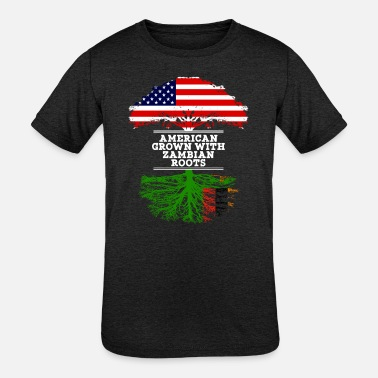 American With Zambian Roots zambian American Grown With Zambian Roots - Kids' Tri-Blend T-Shirt