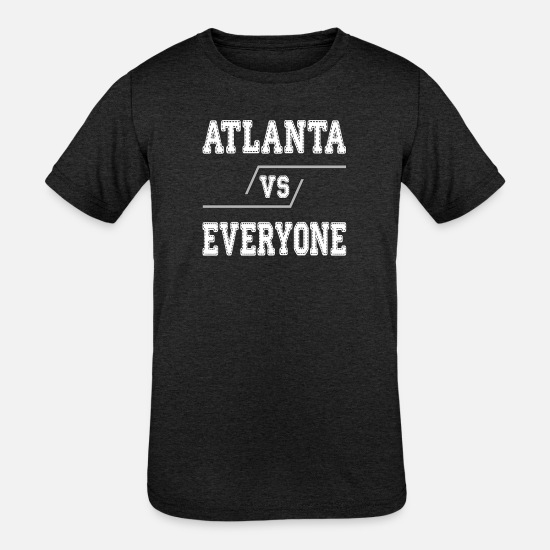 College T-Shirts - Atlanta Vs Everyone - Kids' Tri-Blend T-Shirt heather black