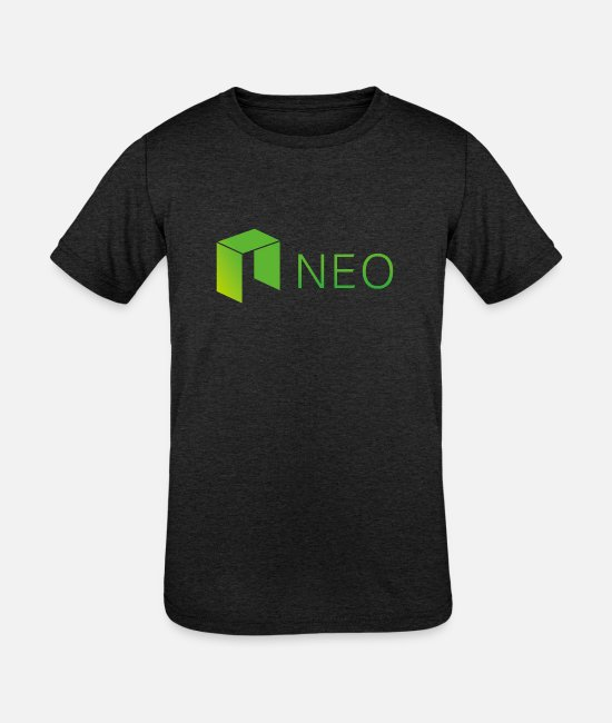 UV T-Shirts - Neo Cryptocurrency logo - Kids' Tri-Blend T-Shirt heather black