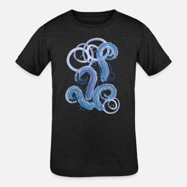 Abstract abstract blue tide - Kids' Tri-Blend T-Shirt