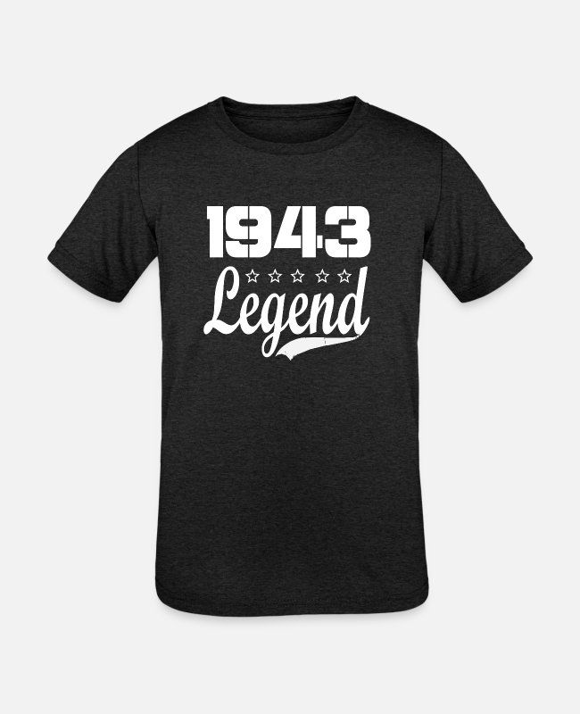 1943 T-Shirts - 43 legend - Kids' Tri-Blend T-Shirt heather black