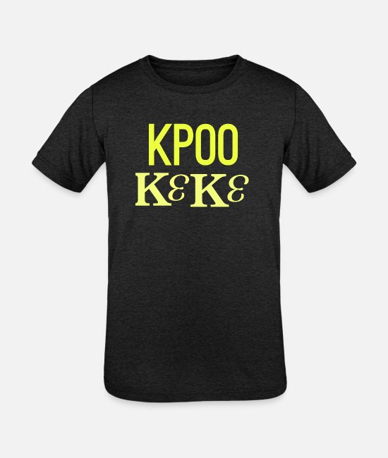 College Student T-Shirts - KP00 - Kids' Tri-Blend T-Shirt heather black