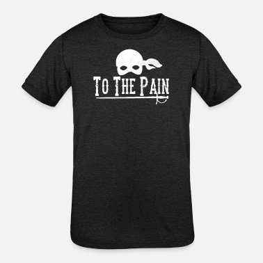 Pain To The Pain - Kids' Tri-Blend T-Shirt