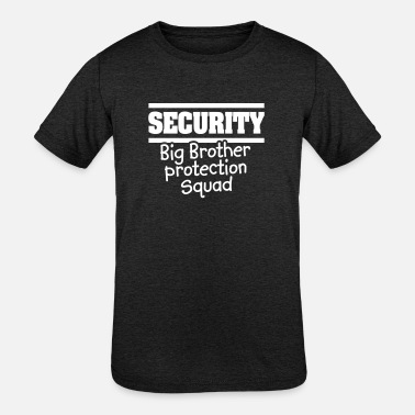 Front Squat Security Big brother protection squat - little bro - Kids' Tri-Blend T-Shirt