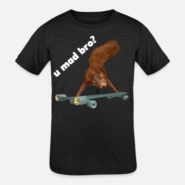 funny mad squirrel - Kids' Tri-Blend T-Shirt