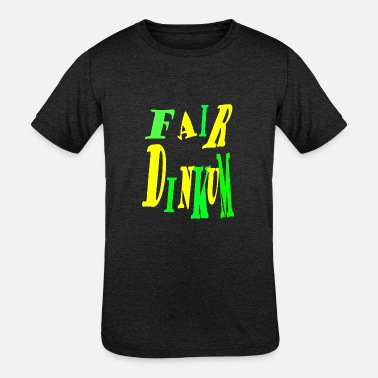 Dinkum Fair Dinkum Power merch - Kids' Tri-Blend T-Shirt