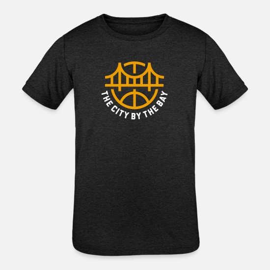 The Golden State T-Shirts - Golden State Basketball - Kids' Tri-Blend T-Shirt heather black
