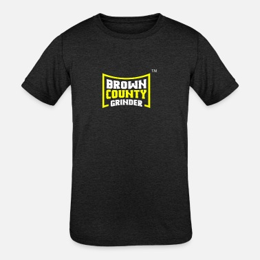 County BROWN COUNTY GRINDER - Kids' Tri-Blend T-Shirt