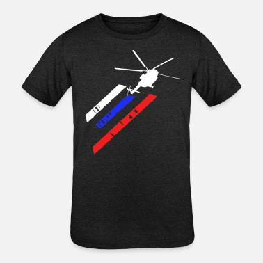Aviation Helicopter Pilot Heli Aviator - Kids' Tri-Blend T-Shirt