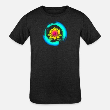 Enso Zen Circle Lotus Flower Symbol Buddhism Yoga - Kids' Tri-Blend T-Shirt