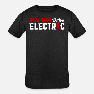 Energy-conscious Electric car electromobility electricity gift - Kids' Tri-Blend T-Shirt