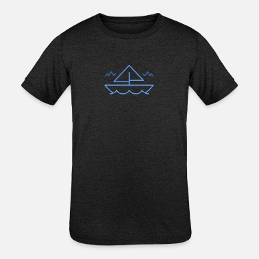 Kids Boat Boat in the Sea. For Kids - Kids' Tri-Blend T-Shirt