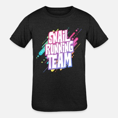 Slow Snail Running Team - Kids' Tri-Blend T-Shirt