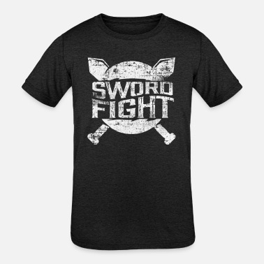 Sword Fight Sword Fighting Knight Middle Ages - Kids' Tri-Blend T-Shirt